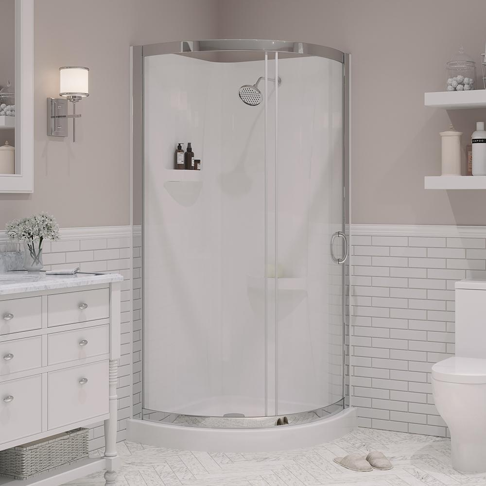 Ove Decors Breeze 34 In X 34 In X 76 In Shower Kit With