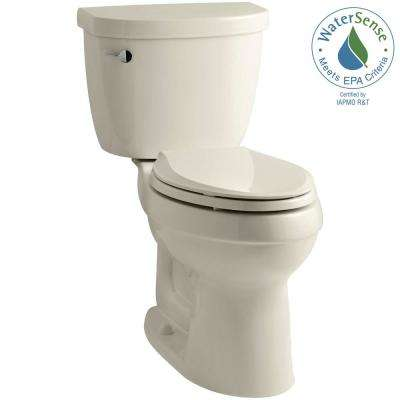 Cimarron 2-piece 1.28 GPF Single Flush High Efficiency Elongated Toilet with AquaPiston Flushing Technology in Almond