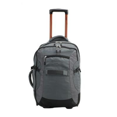 WRANGLER 20 in. Gray Upright Rolling Carry-On/Duffel