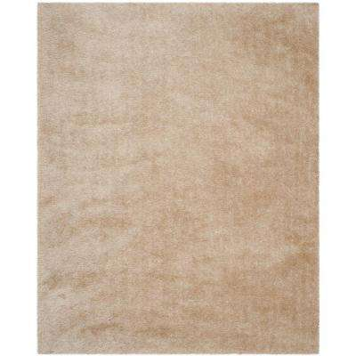 Venice Shag Champagne 8 ft. x 10 ft. Area Rug