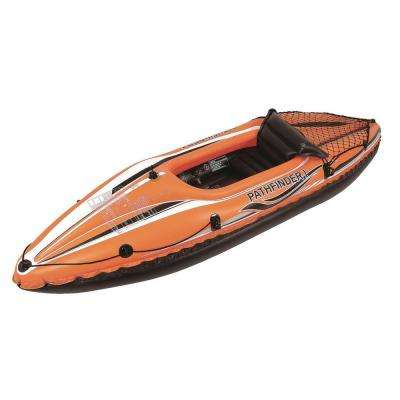 108 in. Orange and Black Inflatable Single Person Kayak