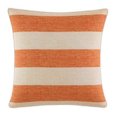 Palmiers Printed Stripe 18 in. x 18 in. Throw Pillow