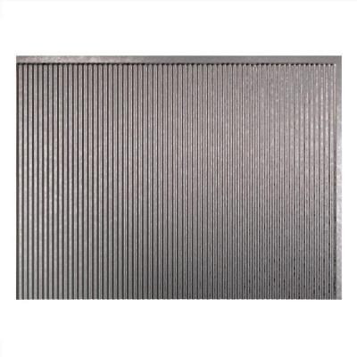 18.25 in. x 24.25 in Galvanized Steel. Rib PVC Decorative Backsplash Panel