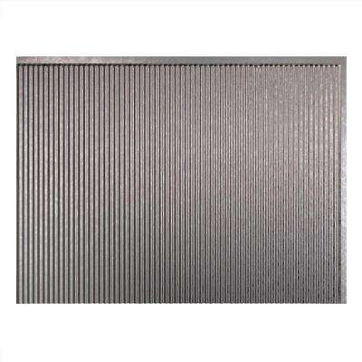 Rib 18 in. x 24 in. Galvanized Steel Vinyl Decorative Wall Tile Backsplash 18 sq. ft. Kit