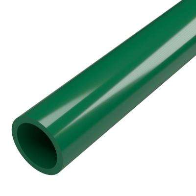 1 in. x 5 ft. Furniture Grade Sch. 40 PVC Pipe in Green