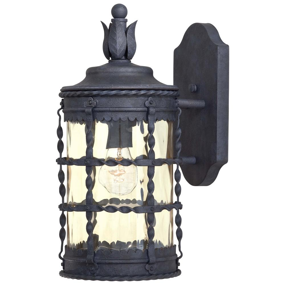 Mallorca 1-Light Spanish Iron Outdoor Wall Lantern Sconce