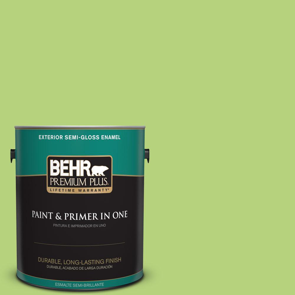 1-gal. #420B-4 Tart Apple Semi-Gloss Enamel Exterior Paint