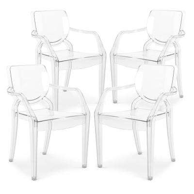 Avery Kids Clear Dining Armchair (Set of 4)