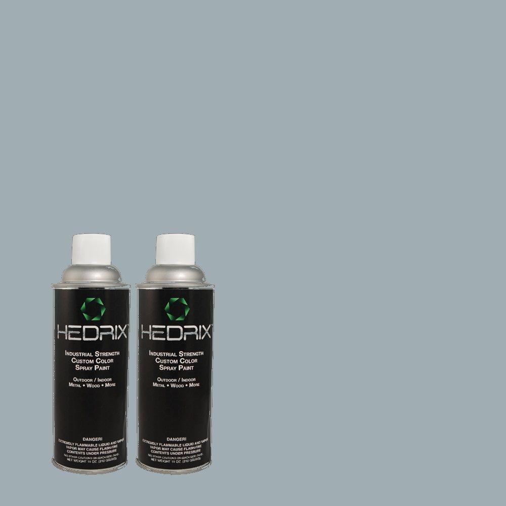 Hedrix 11 oz. Match of PPU14-9 Windsurf Flat Custom Spray Paint (8-Pack)