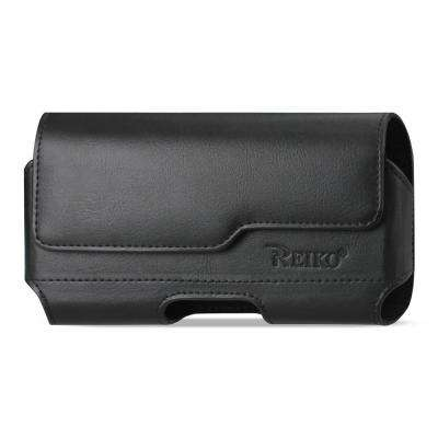 Large Horizontal Leather Holster in Black