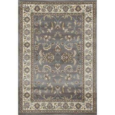 Arabella Scrollwork Gray 8 ft. x 11 ft. Area Rug