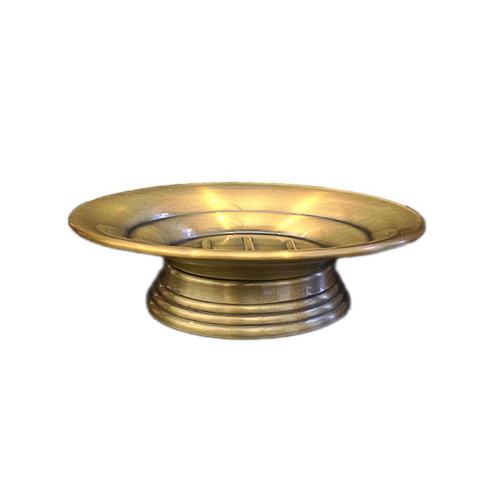 Homewear Antique Brass Collection 6 in. Soap Dish in Brushed Brass