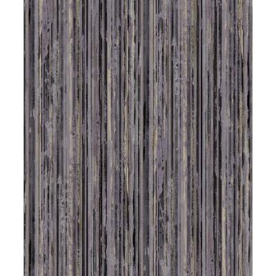 57.8 sq. ft. Savanna Black Stripe Wallpaper