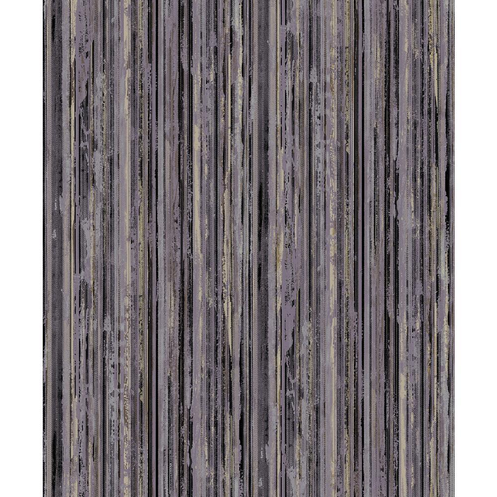 Advantage 8 in. x 10 in. Savanna Black Stripe Wallpaper Sample