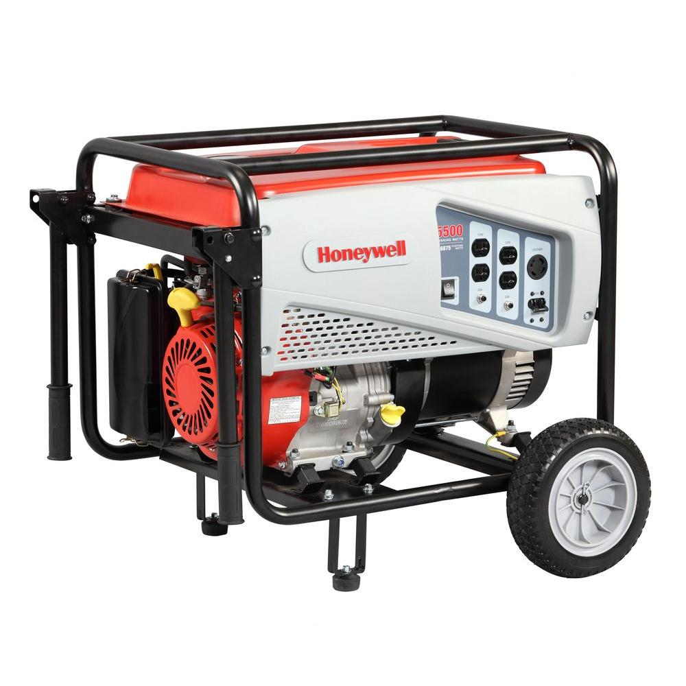 Honeywell 5,500-Watt Gas Powered Portable Generator