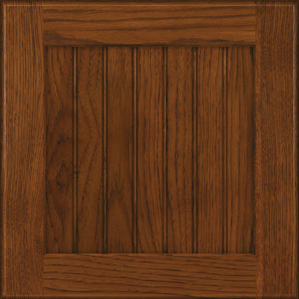 15x15 in. Cabinet Door Sample in Wilmington Hickory in Cognac