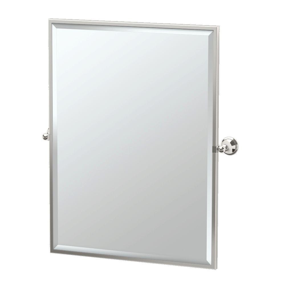 Polished Nickel Bathroom Mirrors Bath The Home Depot - Polished nickel bathroom mirror