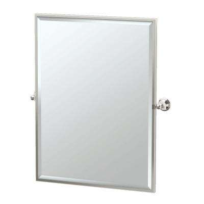Laurel Avenue 28 in. x 33 in. Framed Single Large Rectangle Mirror in Polished Nickel