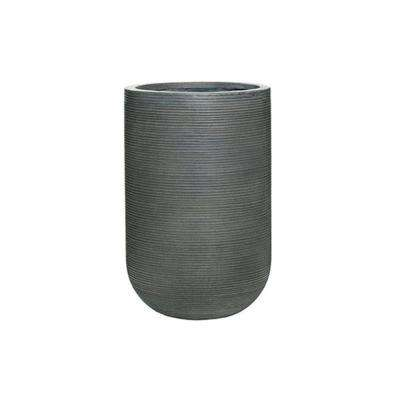 Rough Grey Round Fibercement Rough Pot