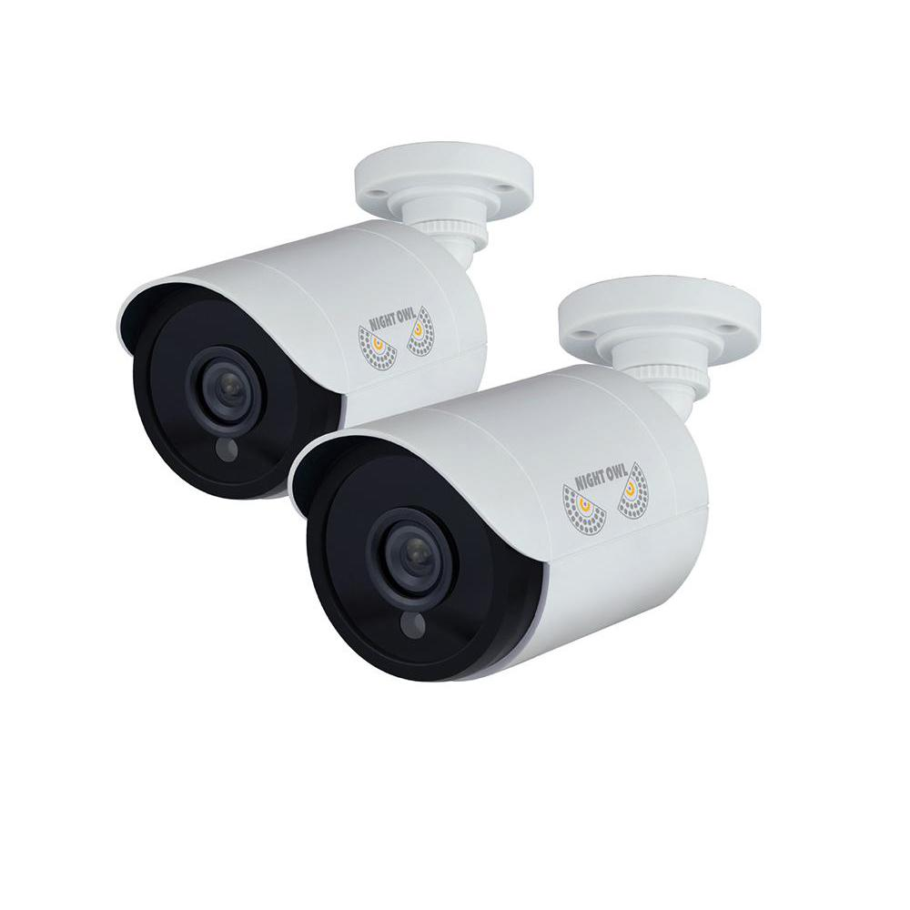 1080p Wired HD Analog White Bullet Standard Surveillance Camera with 100