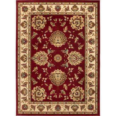 Timeless Abbasi Red 5 ft. x 7 ft. Traditional Area Rug