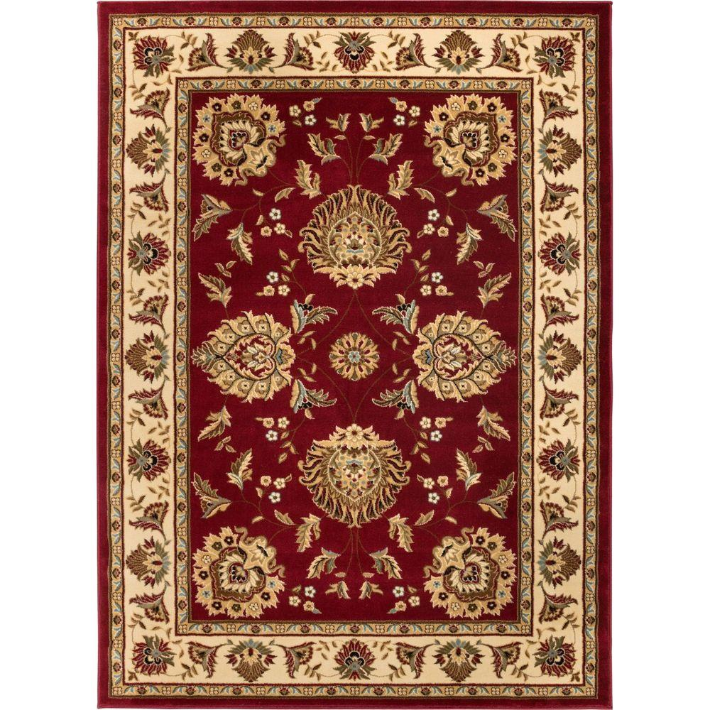 Timeless Abbasi Red 7 ft. x 9 ft. Traditional Classical Area