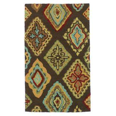 Olivia Lifestyle Collection Brown/Multi 2 ft. 3 in. x 3 ft. 9 in. Accent Rug