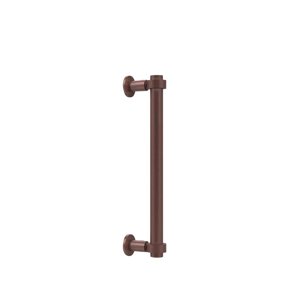 Contemporary 12 in. Back to Back Shower Door Pull in Antique