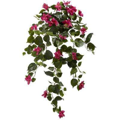 Indoor 37 in. Bougainvillea Hanging Artificial Plant (Set of 2)