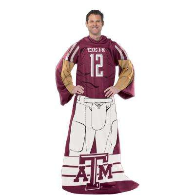 Texas A&M Polyester Uniform Throw Comfy
