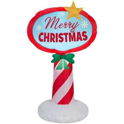 42 in. heights Inflatable Holiday Sign
