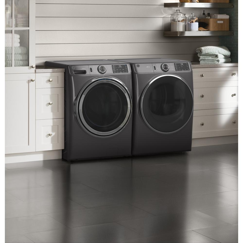Ge 4 8 Cu Ft 28 In Diamond Gray Front Load Washing Machine With Odorblock Ultrafresh Vent System And Sanitize With Oxi Gfw550spndg The Home Depot