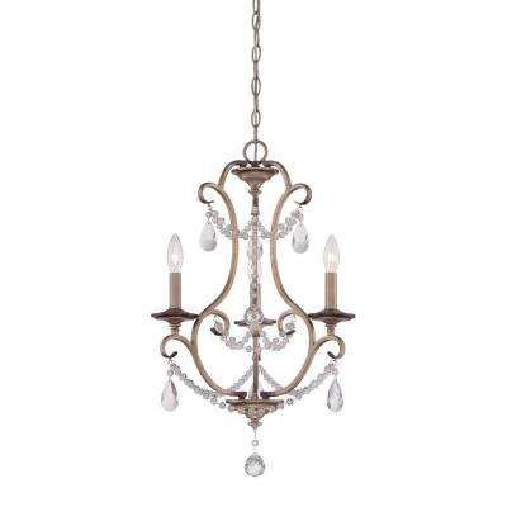 Gala 3-Light Argent Silver Interior Incandescent Chandelier