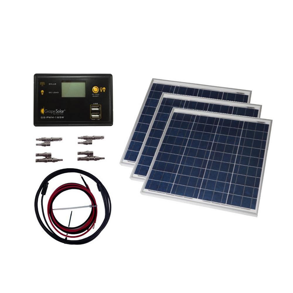 Grape Solar 150 Watt Off Grid Solar Panel Kit Gs 150 Kit