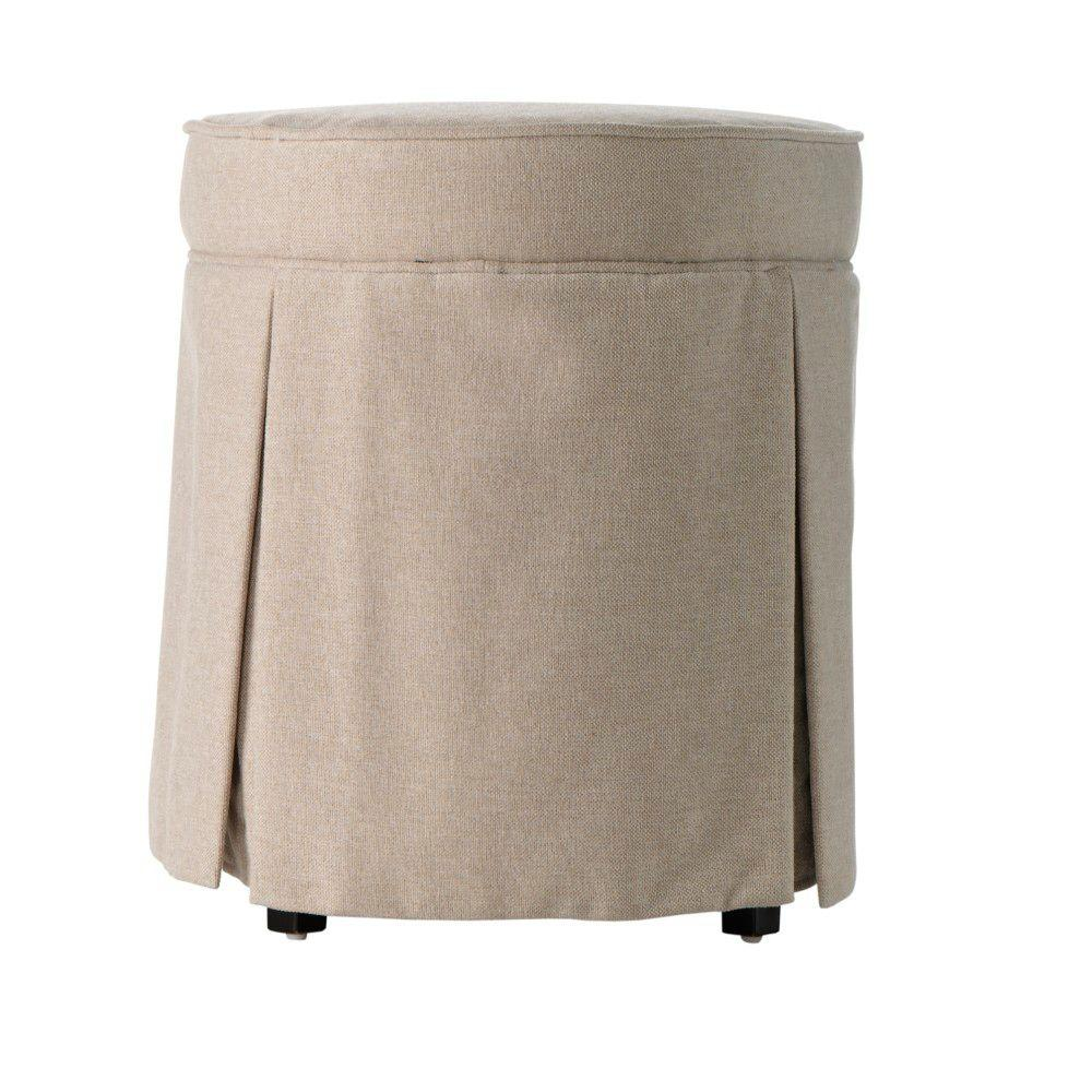 Home Decorators Collection Sydney 19.3 in. H Natural Vanity Stool