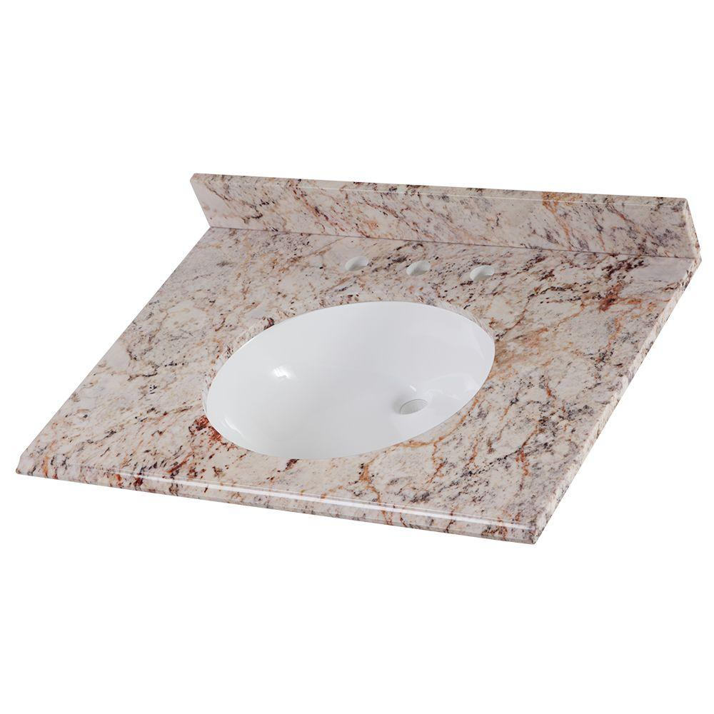 Home Decorators Collection 31 in. Stone Effects Vanity To...