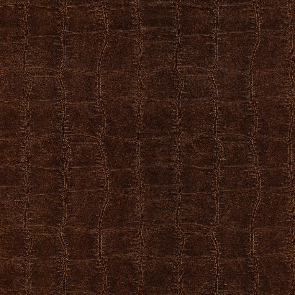 8 in. x 10 in. Cairo Brown Leather Wallpaper Sample