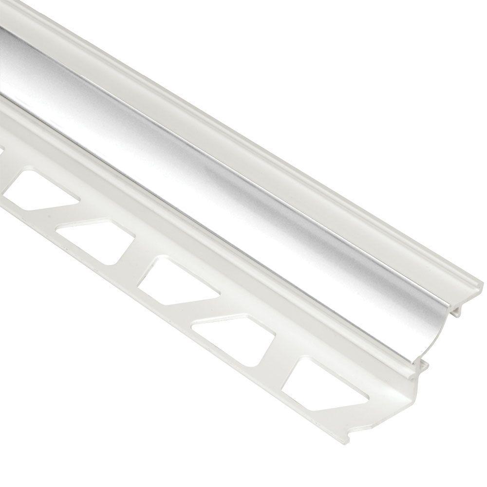 Dilex-PHK Bright White 3/8 in. x 8 ft. 2-1/2 in. PVC Cove-Shaped Tile Edging Trim