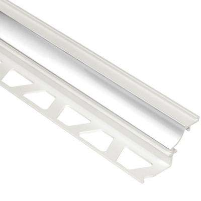 Dilex-PHK Bright White 5/16 in. x 8 ft. 2-1/2 in. PVC Cove-Shaped Tile Edging Trim
