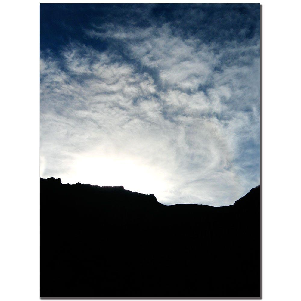 24 in. x 32 in. Mountain Silhouette Canvas Art