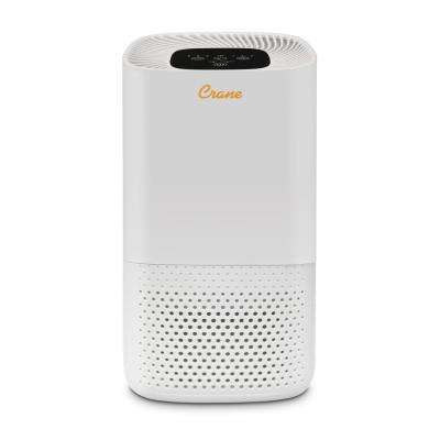 True HEPA Filter Tower Air Purifier in White