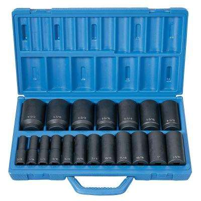 1/2 in. Drive Deep Length Fractional Master Set (19-Piece)
