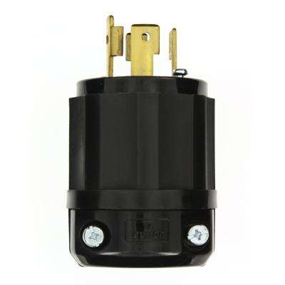 480 volt 30 amp electrical plugs connectors wiring devices 30 amp 480 volt 3 phase locking grounding plug blackwhite greentooth Choice Image
