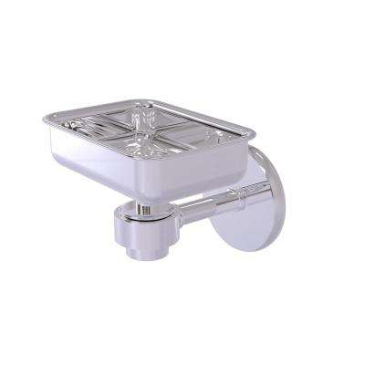 Satellite Orbit One Wall Mounted Soap Dish in Polished Chrome