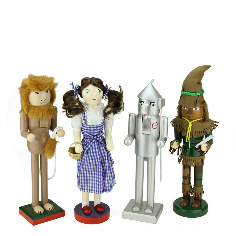 Northlight 15 in. Wizard of Oz Wooden Christmas Nutcrackers (Set of ...