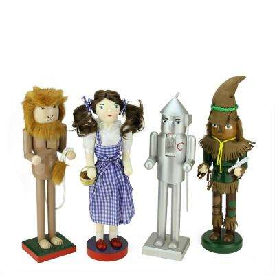 15 in. Wizard of Oz Wooden Christmas Nutcrackers (Set of 4)