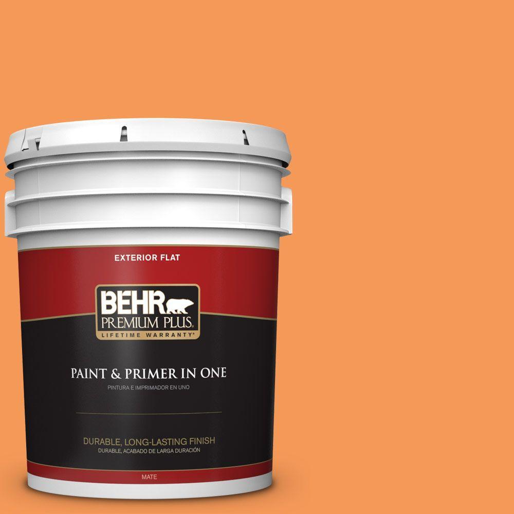 5-gal. #260B-6 Blaze Orange Flat Exterior Paint