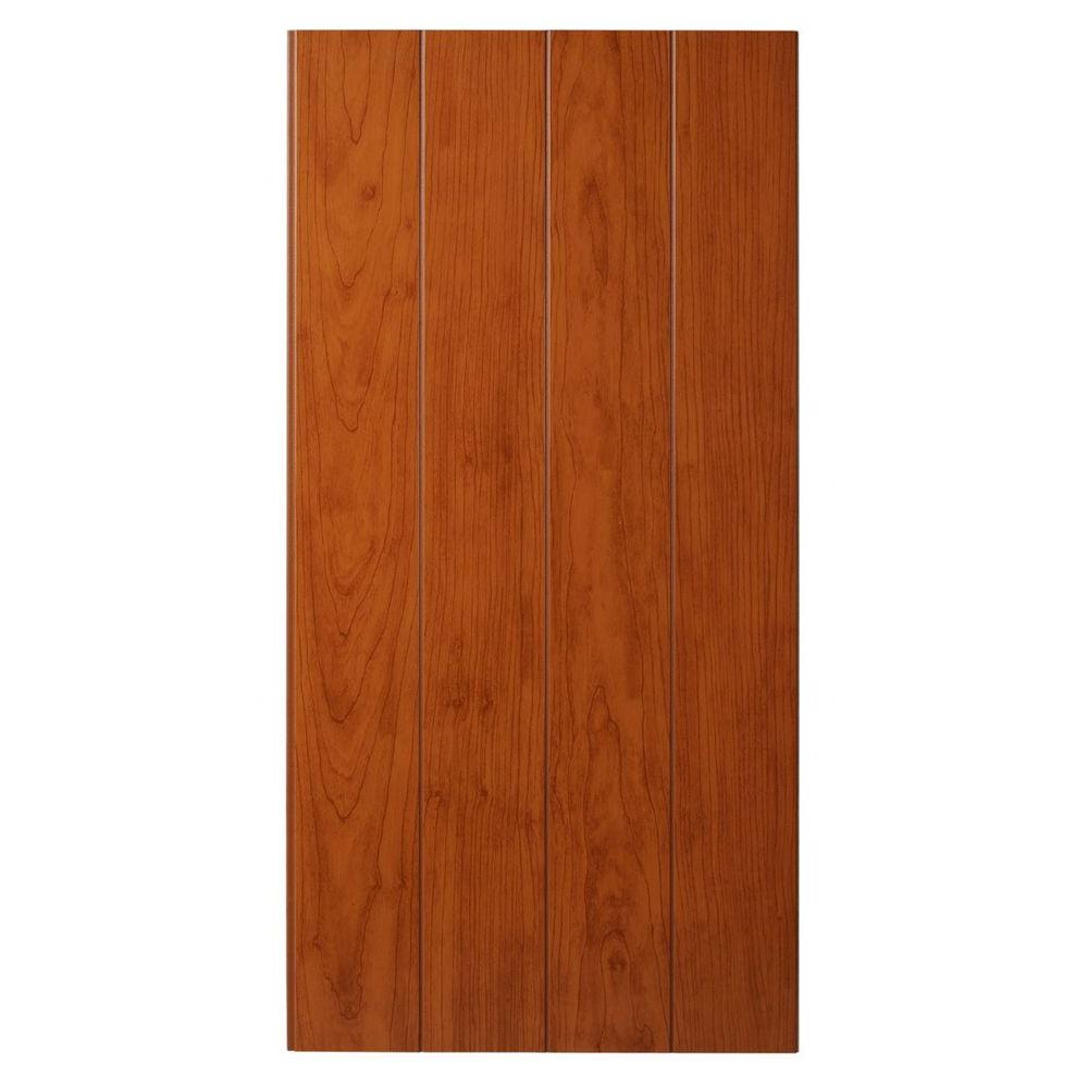 Marlite Supreme Wainscot 8 Linear ft. HDF Tongue and Groove Cambridge Cherry Panel (6-Pack)
