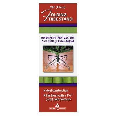 28 in. Metal Folding Tree Stand