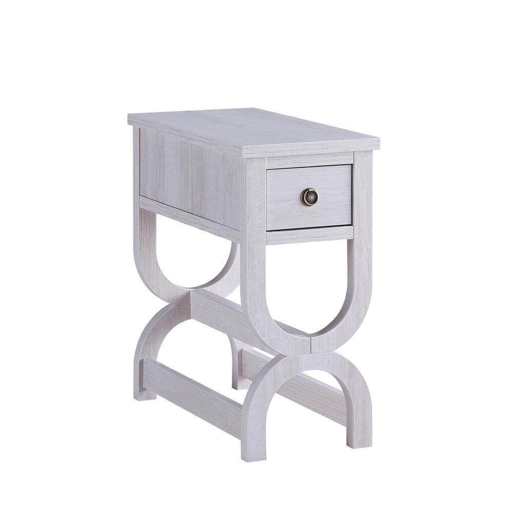 Mai White Oak 1-Drawer Side Table